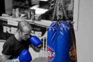 training with heavybag