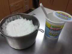making yogurt cheese